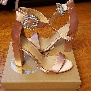 Shoes - Pink Satin Formal Shoes